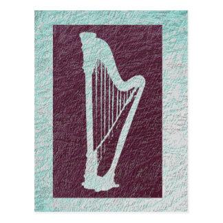 Harfe 2 postkarte