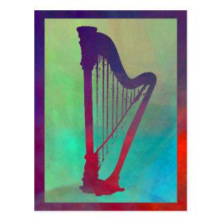 Harfe 5 postkarte