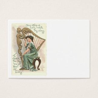 Harfe Erin viktorianischen Mädchens Jumbo-Visitenkarten