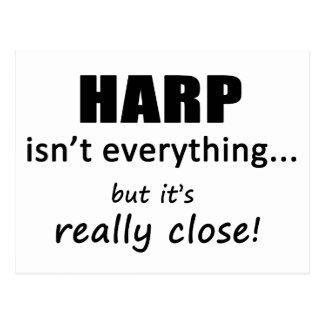 Harfe ist nicht alles postkarte