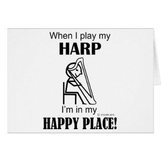Harfen-glücklicher Platz Karte