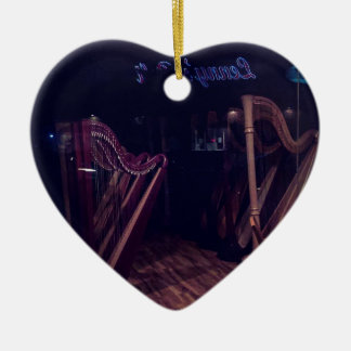 Harfen im Schatten Keramik Ornament