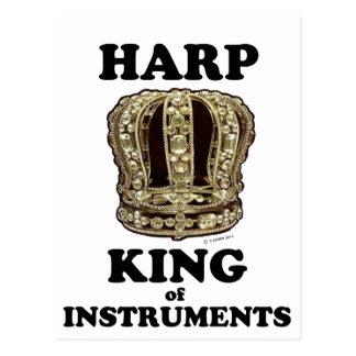 Harfen-König der Instrumente Postkarte