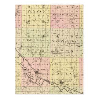 Harlan County, Nebraska Postkarte