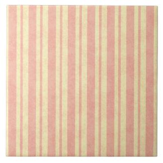 Harland Vintages Streifen-Rosen-Rosa Fliese