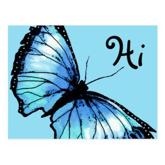 """""""Harlekin"""" (blauer Schmetterling) Postkarte"""