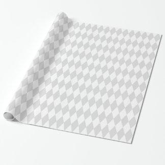 Harlekin-Diamant-Muster lt-graues Weiß Geschenkpapier