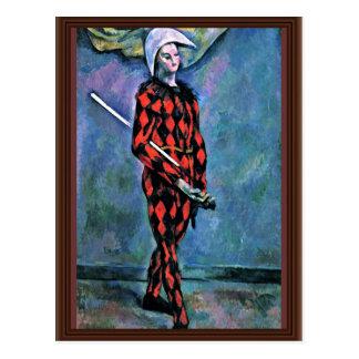 Harlekin durch Paul Cézanne (beste Qualität) Postkarte