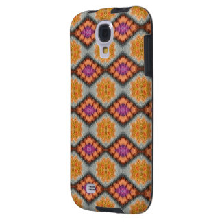 Harlekin-Entwurfs-orange/Amethyst Edelstein-Muster Galaxy S4 Hülle