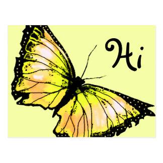 """""""Harlekin"""" (gelber Schmetterling) Postkarte"""