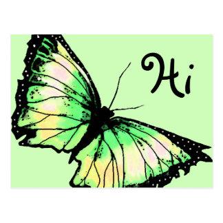"""Harlekin"" (grüner Schmetterling) Postkarte"