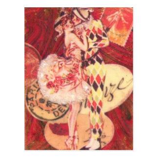 Harlekin-Kuss Postkarte