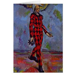 Harlekin Pauls Cezanne- Karte