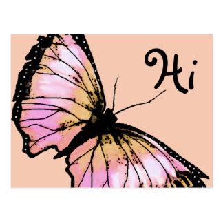 """Harlekin"" (Pfirsich-Schmetterling) Postkarte"