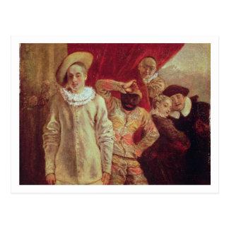 Harlekin, Pierrot und Scapin, Schauspieler von COM Postkarte