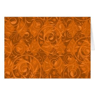 Harlekin-Rebe-gemusterte Hintergrund-Kürbis-Orange Karte
