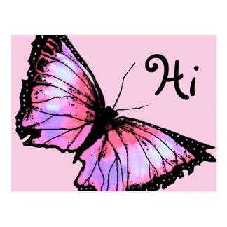 """""""Harlekin"""" (rosa Schmetterling) Postkarte"""
