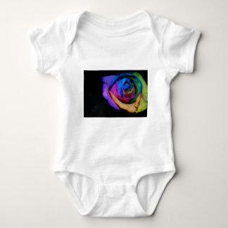 Harlekin-Rose Baby Strampler