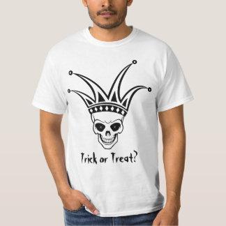 Harlekin-Schädel-Trick oder Leckerei T-shirt