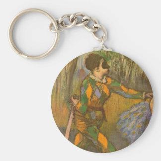 Harlekin und Columbine durch Edgar Degas Schlüsselbänder