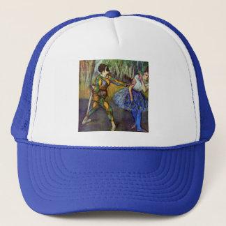Harlekin und Columbine durch Edgar Degas Truckerkappe