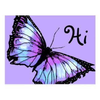 """""""Harlekin"""" (violetter Schmetterling) Postkarte"""