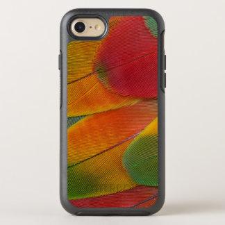 Harlekinmacaw-Papageienfedern OtterBox Symmetry iPhone 8/7 Hülle