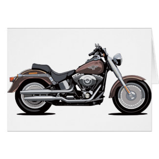 Harley Davidson-Fett-Junge Karte