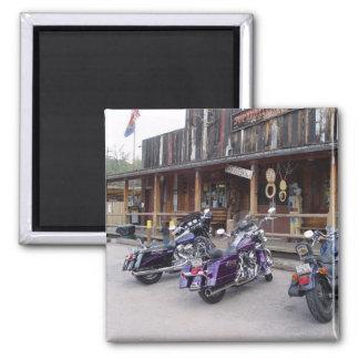 Harley Davidson Motorräder durch Western-Saal Quadratischer Magnet