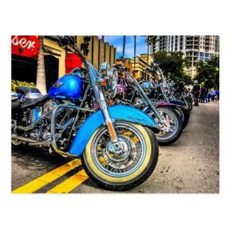 Harley Davidson-Motorräder Postkarte