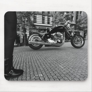 Harley Davidson (Schwarzweiss) Mousepad