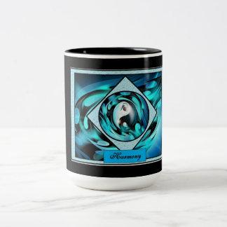 Harmonie-abstrakter Entwurf Zweifarbige Tasse