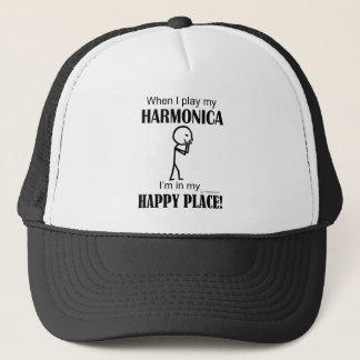 Harmonika-glücklicher Platz Truckerkappe