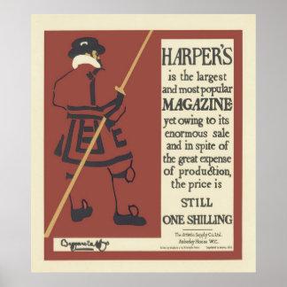Harpers Zeitschrift 1895 Plakat