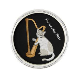 Harpist ist ein Kätzchen Anstecknadel