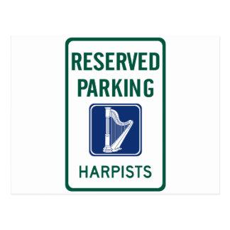 Harpists-Parken Postkarte