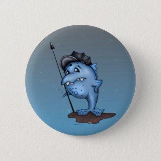 HARPO LUSTIGER ALIEN-MONSTER-CARTOON Knopf 2 ¼ Runder Button 5,1 Cm