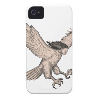 Harpy-Swooping Tätowierung iPhone 4 Hülle