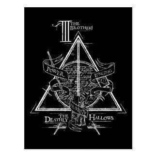 Harry Potter-Bann TOTEN | HEILIGT Grafik Postkarten