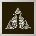 Harry Potter-Bann TOTEN | HEILIGT Typografie GR Poster