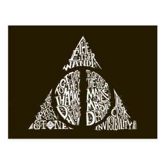 Harry Potter-Bann TOTEN | HEILIGT Typografie GR Postkarte