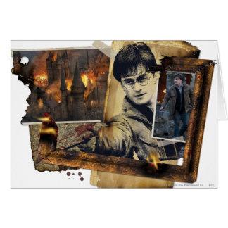 Harry Potter-Collage 7 Grußkarte