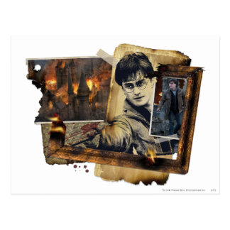 Harry Potter-Collage 7 Postkarte