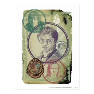 Harry Potter-Collage 9 Postkarte