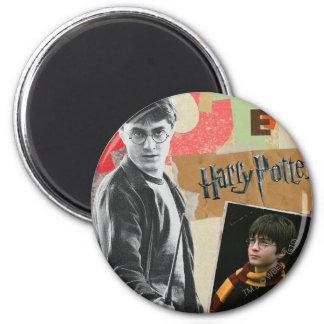 Harry Potter dann und jetzt Runder Magnet 5,7 Cm
