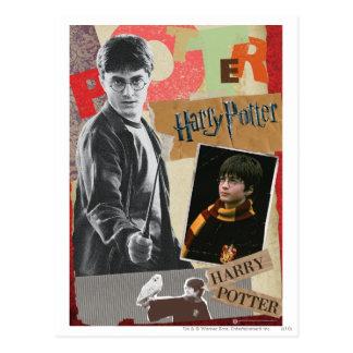 Harry Potter dann und jetzt Postkarte