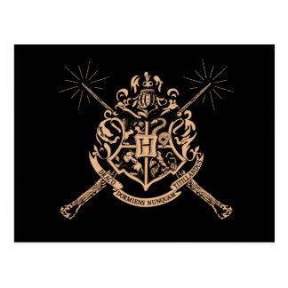 Harry Potter | Hogwarts gekreuztes Wands-Wappen Postkarte