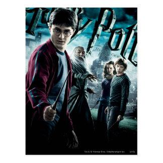 Harry Potter mit Dumbledore Ron und Hermione 1 Postkarte