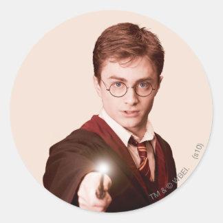 Harry Potter-Punkt-Stab Runder Aufkleber