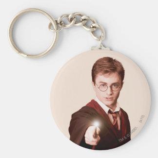 Harry Potter-Punkt-Stab Standard Runder Schlüsselanhänger